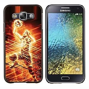 NBA Jugador de Baloncesto- Metal de aluminio y de plástico duro Caja del teléfono - Negro - Samsung Galaxy E5 / SM-E500