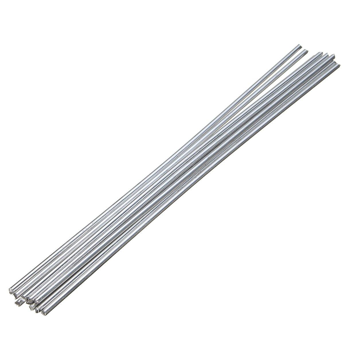 KUNSE 10Pcs Low Temperature Alumaloy Aluminum Repair Rods 3.2Mmx230Mm Welding Machine Accessories