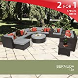 Bermuda 12 Piece Outdoor Wicker Patio Furniture Set 12a Review