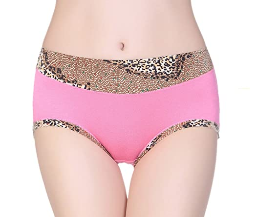 Demarkt Women s Underwear Panties Bamboo Fiber Leopard Print Brief Hipster  Shorties Knickers Black  Amazon.co.uk  Clothing 84fcc3a2f