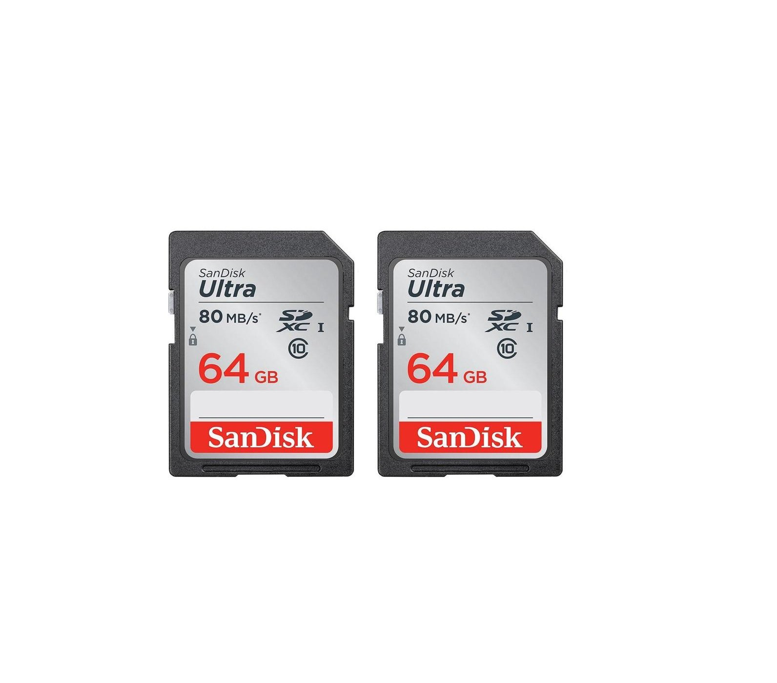 Sandisk Ultra 64GB 2‑pack SDXC UHS-I Class 10 Memory Card by SanDisk