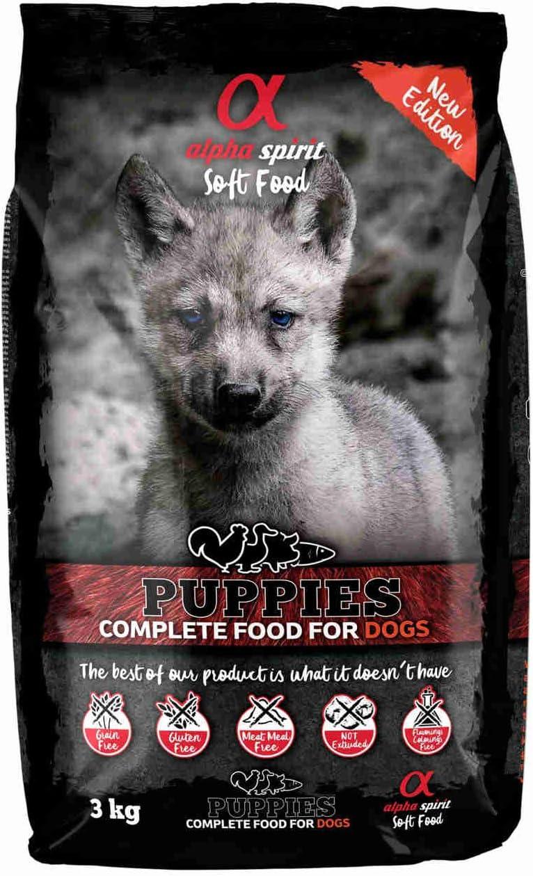 ALPHA Spirit Canine Puppy SEMIHUMEDO 3KG, Negro, Mediano, 3000