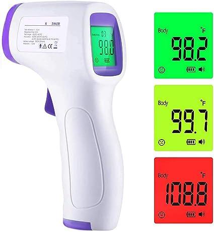 Thermomètre frontal sans contact à infrarouge connecté !
