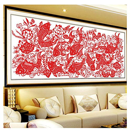Cross Stitch, Fish, Paper Cutting, Chinese Style,