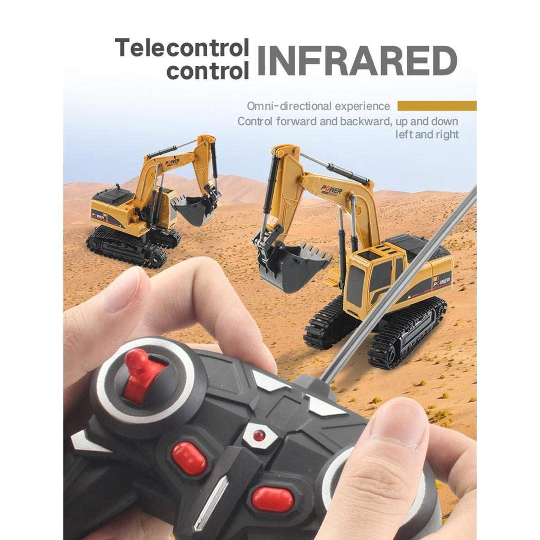 Bealye 1:24 Four-Wheel Drive Crawler Excavator Remote Control Educational Toy with Light by Bealye (Image #8)
