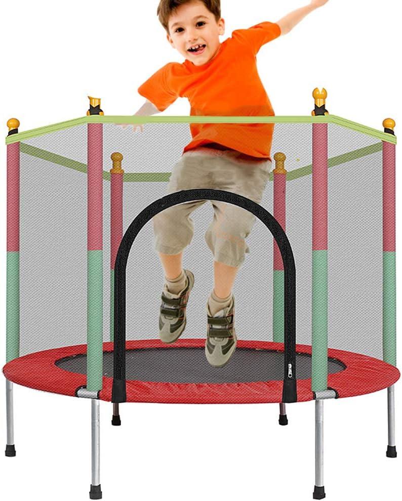 Deportes Cama Elástica Niños, Jardinería Trampolín Cubierto Trampolín Trampolín Al Aire Libre Los Niños con Red De Seguridad Y Cubrir El Borde Niños A Jugar Ricochet Liberación De Kindernergie
