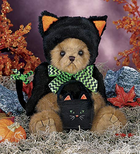 Halloween Stuffed Animals Bulk (Bearington Midnight Magic, Plush Stuffed Animal Halloween Teddy Bear in Black Cat Outfit, 12)