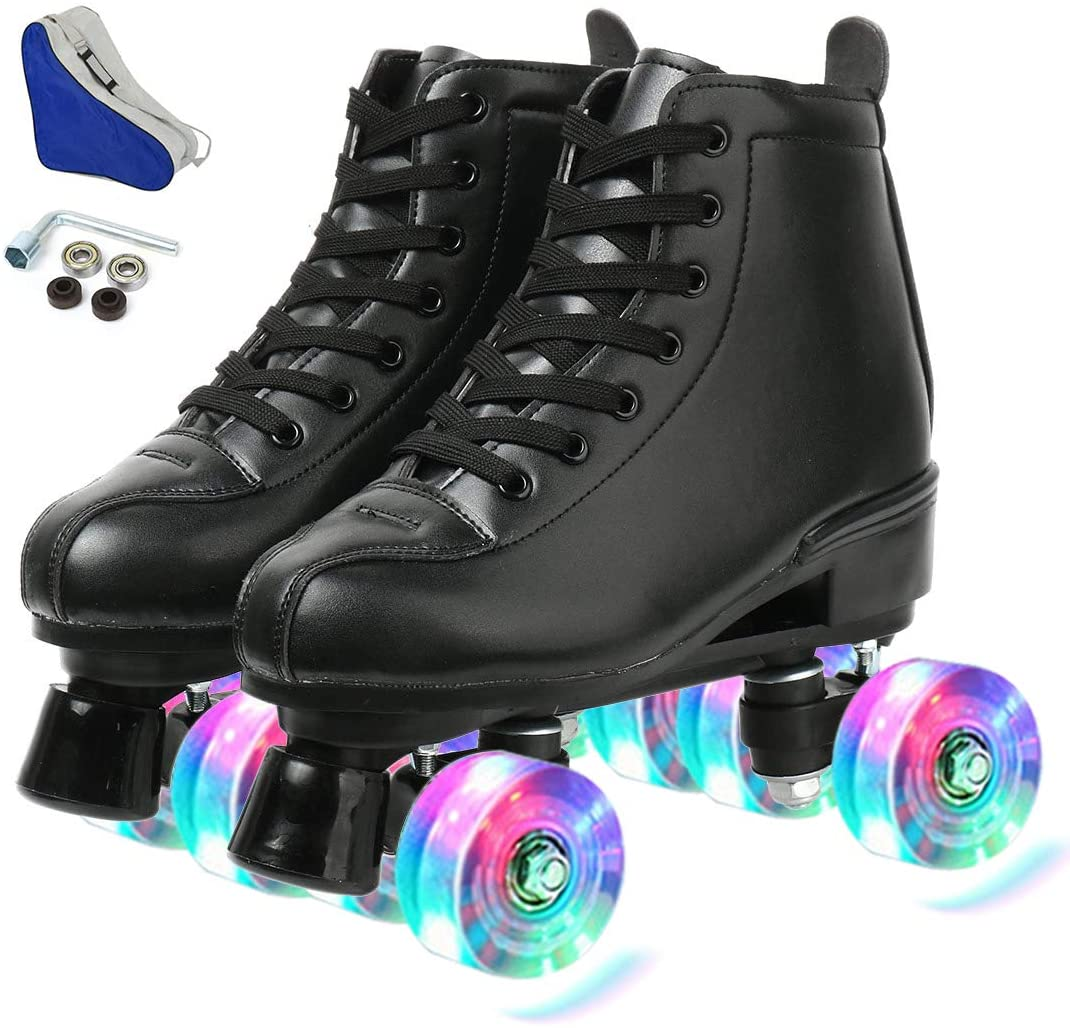 Free Shipping Cheap Bargain Gift XUDREZ Classic Roller Finally popular brand Skates High-Top Leather Double-Row