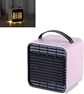 Xtanbvilage Bladeless Fan,Portable Cooler Air Conditioner Mobile Air Conditioners,Pink
