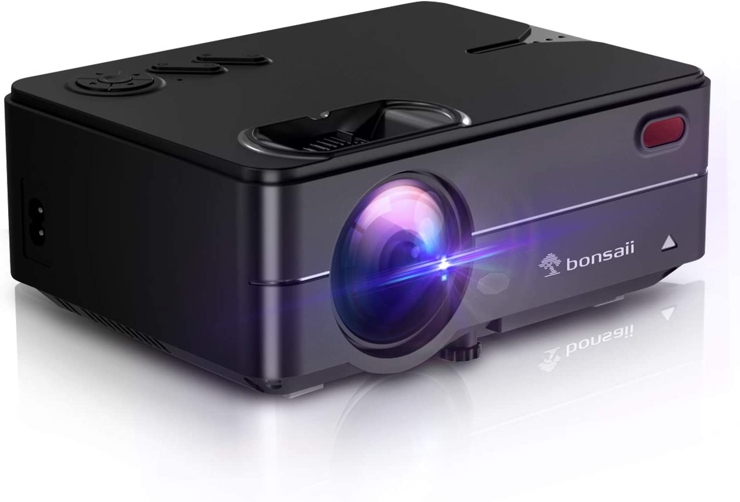 "Mini Projector for Outdoor Movies, Portable Projector Support 1080P 120"" Display Home Theater Movie Projector with 50,000 Hrs LED Lamp Life, Compatible with TV Stick, PS4, PC, HDMI, VGA, AV and USB"