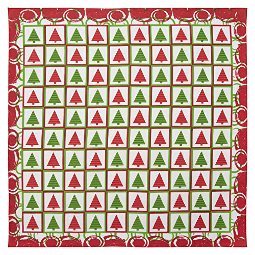 Christmas Checkers Bandana - Single Piece - 22x22