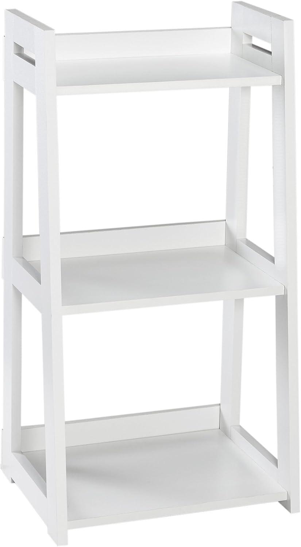 ClosetMaid 3314 No-Tool Assembly Narrow 3-Tier Ladder Shelf, White