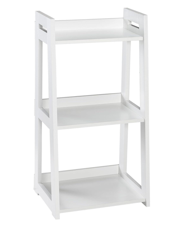 the best attitude 81802 e0256 ClosetMaid 3314 No-Tool Assembly Ladder Shelf, Narrow 3-Tier, White
