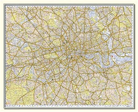 Framed A-Z Premier Street Map of London (Brand New 2012 edition) 48 ...