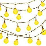 Dailyart 13feet/4m Waterproof IP44 Long Globe String Light Starry Light for Gardens, Homes, Wedding, Christmas Party, Battery-powered (Beige)