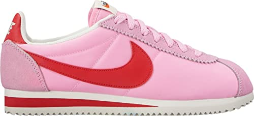 timeless design 5a36b 322f7 Nike - Wmns Classic Cortez Nylon Prem - 882258601 - Colore  Rosso-Rosa -  Taglia  36.5  Amazon.it  Scarpe e borse