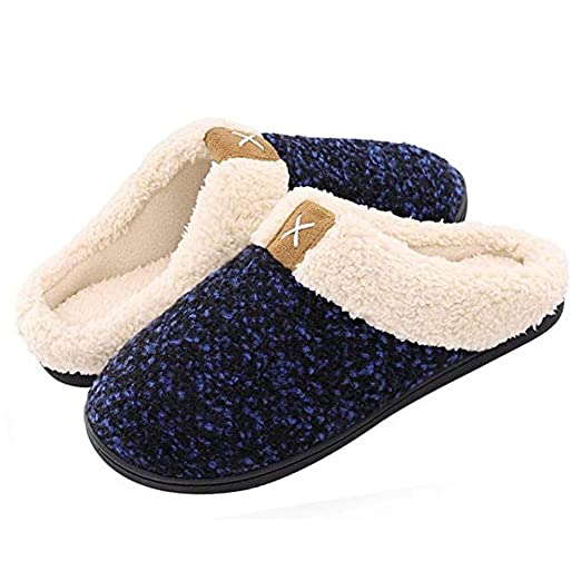 5fd22ad5e152 Women Memory Foam Slippers Men Slip-on House Shoes Indoor Outdoor Anti-Skid  Pressure