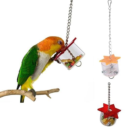 Xumarket(TM) - Caja de alimentación para pájaros, juguetes, loros ...
