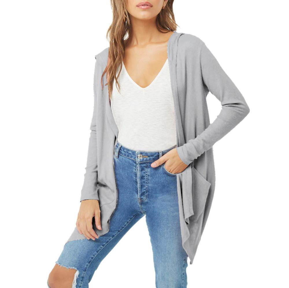 PowerFul-LOT Mode Femmes Casual Châle Kimono Solide Cardigan à Manches Longues Top Chemisier