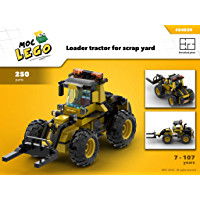 Loader tractor for scrap yard (Instruction Only): MOC LEGO (English Edition)