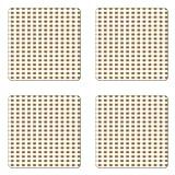 Lunarable Retro Coaster Set of Four, Checkered Grid