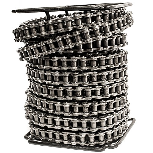 60H Heavy Duty Roller Chain 50 Feet with 5 Connecting Links by Donghua