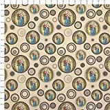 Stained Glass Virgin Mary and Jesus Madonna Kraft Present Gift Wrap Wrapping Paper