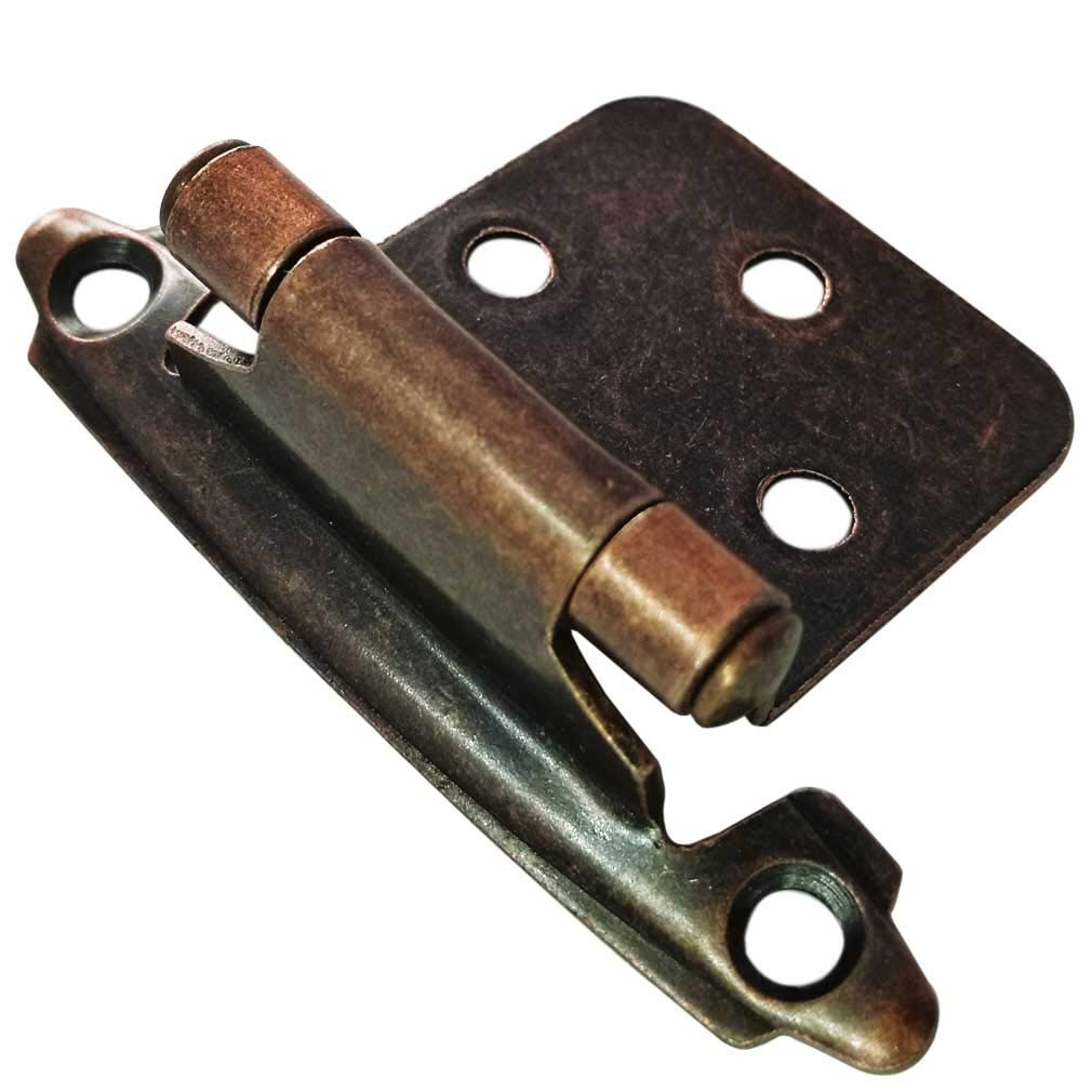 Smbbit Traditional Cabinet Hinge Variable Overlay 10 Pack Oil Rubbed Red Bronze