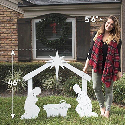 Teak Isle Outdoor Nativity Scene - Holy Family Yard Nativity Set by Teak Isle (Image #2)