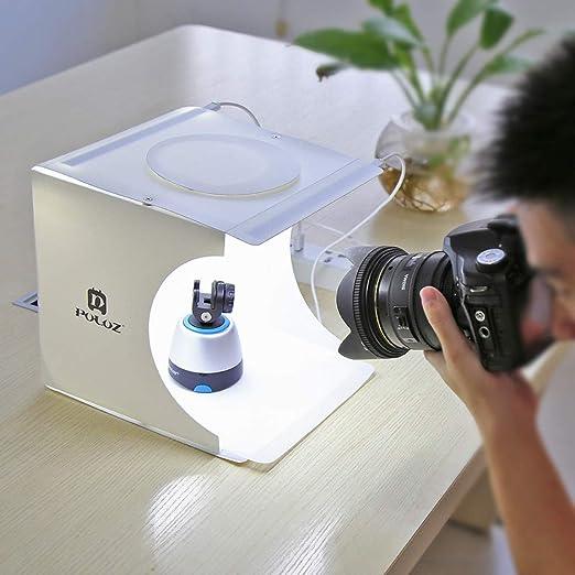 Chenway Caja de estudio de fotografía portátil para joyas y ...