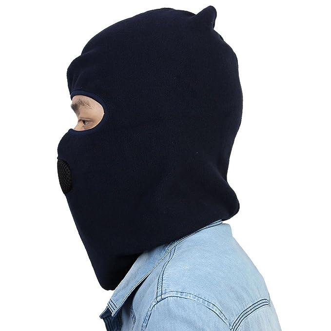 Amazon.com : eDealMax Unisex de motos Ciclismo Esquí Ajustable Resistente al Viento cálido Jefe de la cara llena Proteger la máscara de la capilla del ...