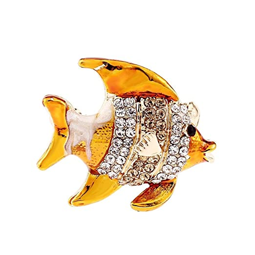 Kaige Broche PIN color besos a señora hombre pez broche ...