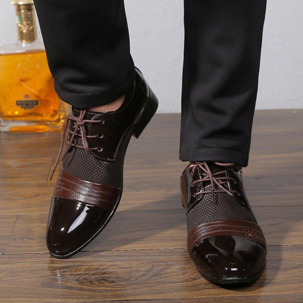 XXY XXY XXY Herren Business Schuhe Glatte PU Leder Splice Oberteil Lace Up Atmungsaktives Mesh Oxfords Mode Slipper  2a45e6
