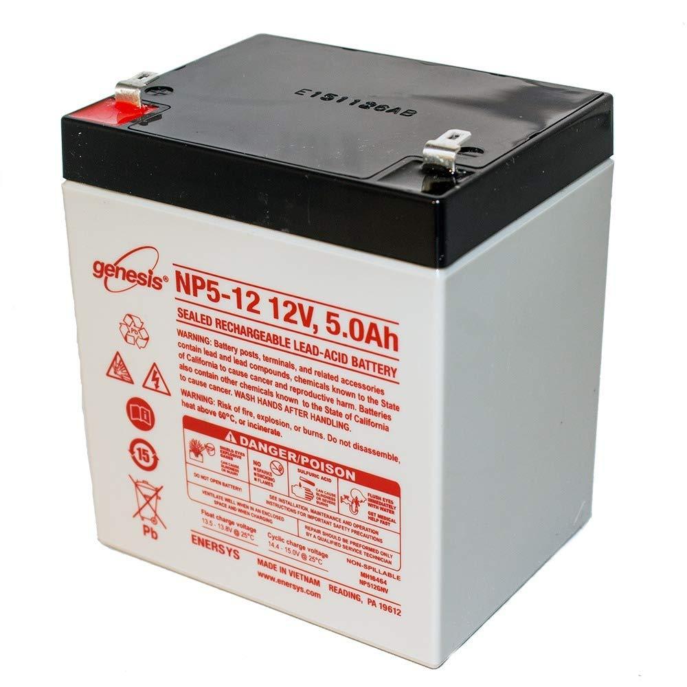 EnerSys Genuine NP5-12 Genesis NP Series 12V 5Ah SLA Battery