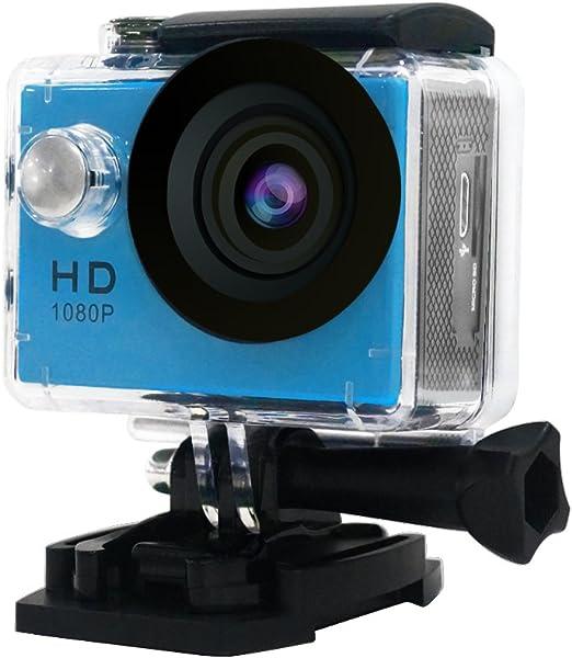 Kit 1080P HD Cámara Deportiva de Acción Mini DV Vídeo con Carcasa Impermeable