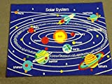 Kids Area Rug - Solar System Design (5 Ft. X 7 Ft.)