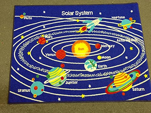 Kids Area Rug - Solar System Design (5 Ft. X 7 Ft.) by Masada Rugs