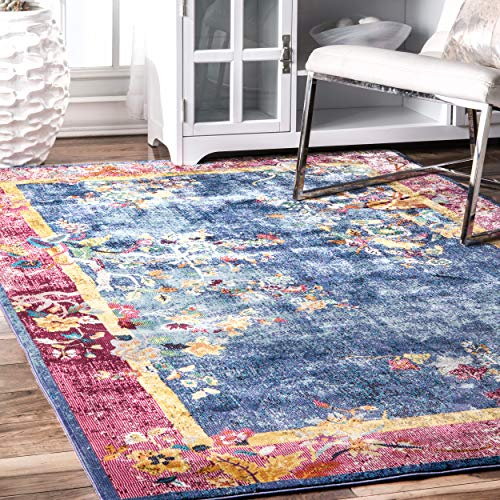 - nuLOOM YKNV11A Nia Floral Chinese Art Deco Rug, 7' 10