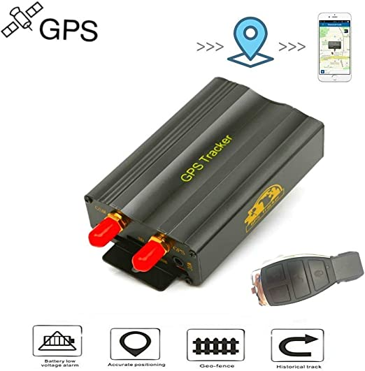 Localizador GPS Rastreador GPS Coche GPS Tracker Dispositivo de Rastreo de Vehículos GPS SMS GPRS Sistema de Seguimiento en Tiempo Real TK103B: Amazon.es: Electrónica