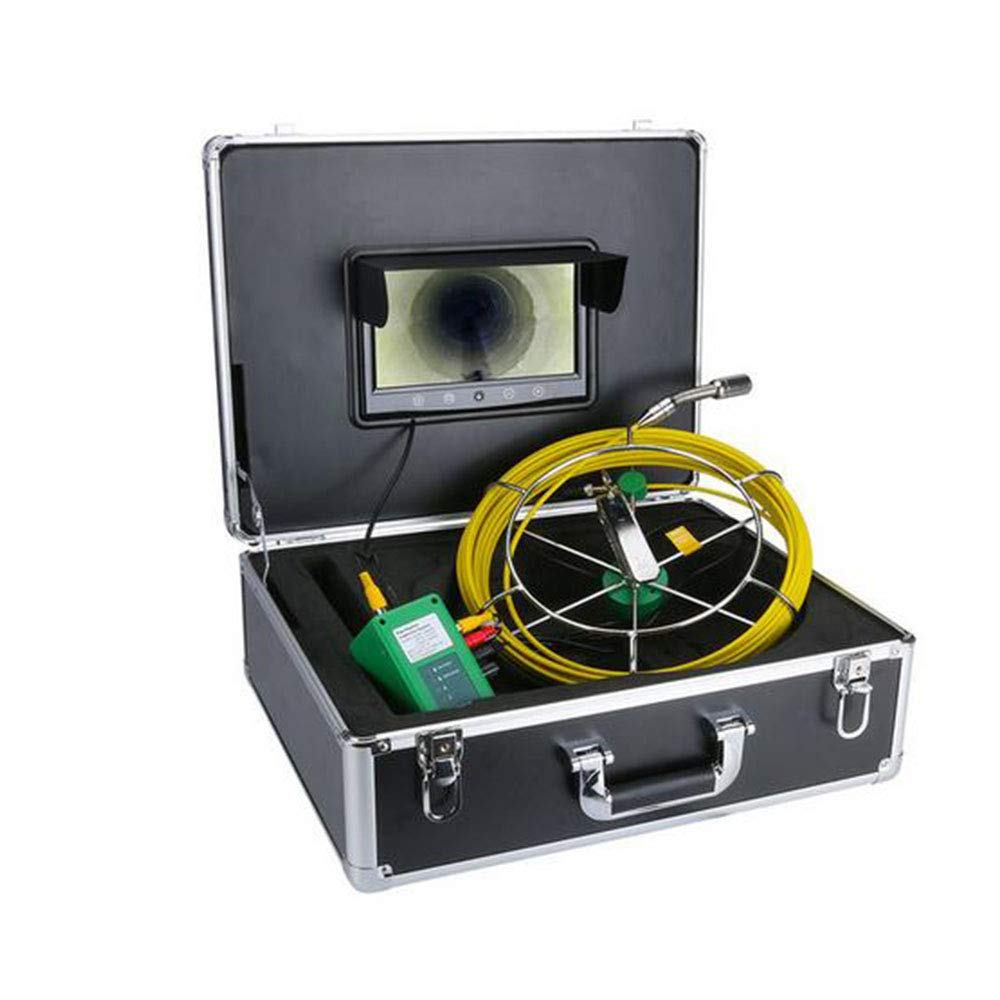 50M 20M 30M 40M 50M IP68 Waterproof Drain Pipe Sewer Inspection Camera System 9 LCD 1000 TVL Camera with 6W LED Lights