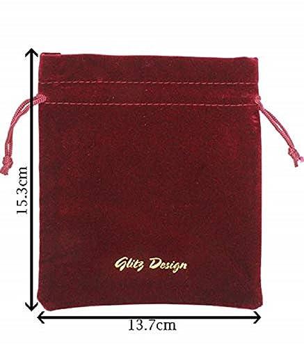 Amazon.com: Glitz diseño de marca rojo vino pana bolsas ...