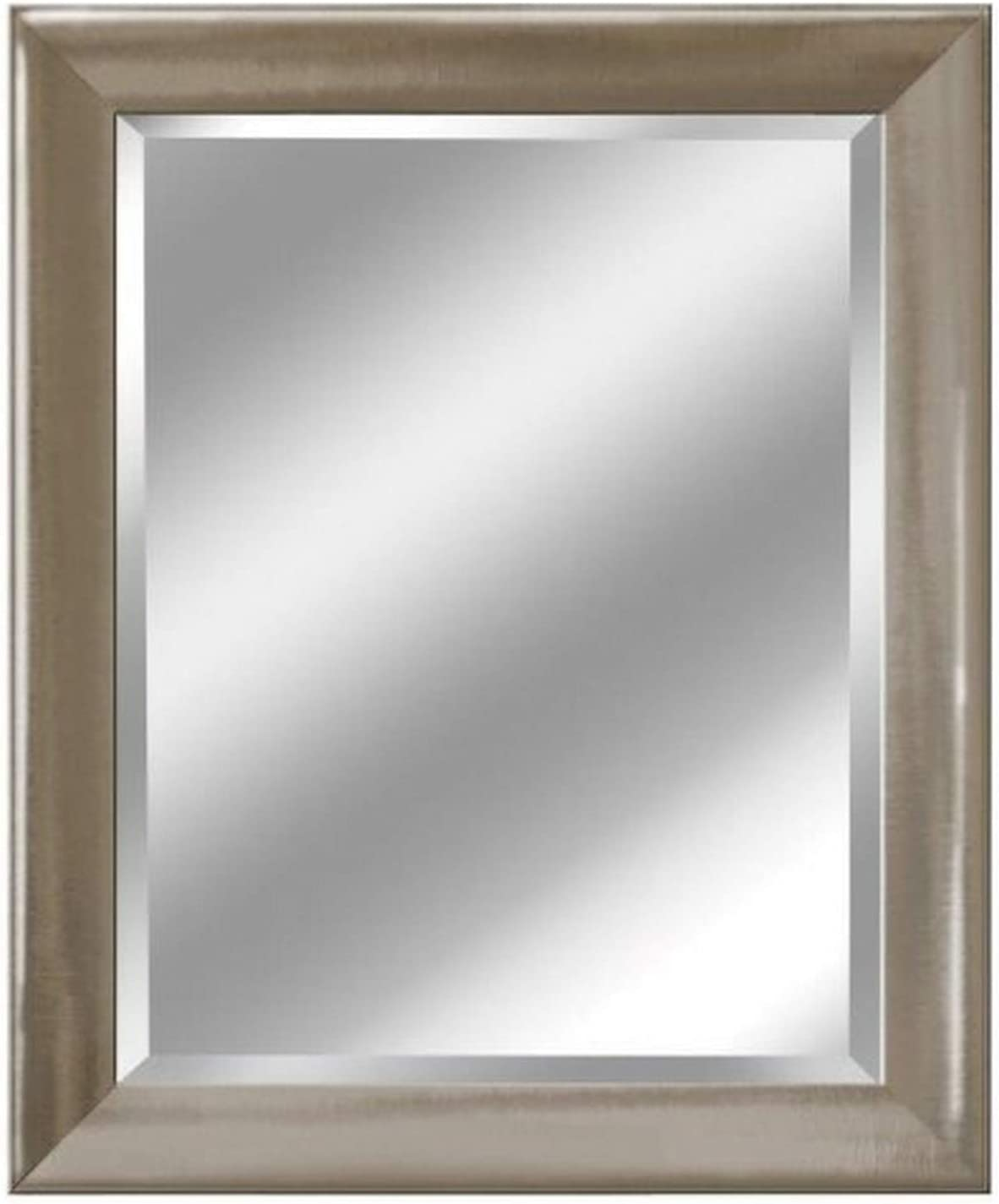 Amazon Com Head West Transitional Brushed Mirror 29 By 35 Inch Nickel Home Kitchen