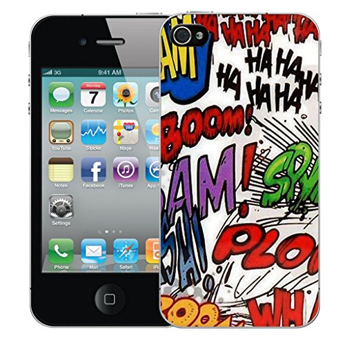 Mobile Case Mate iPhone 4s Silicone Coque couverture case cover Pare-chocs + STYLET - Animation pattern (SILICON)