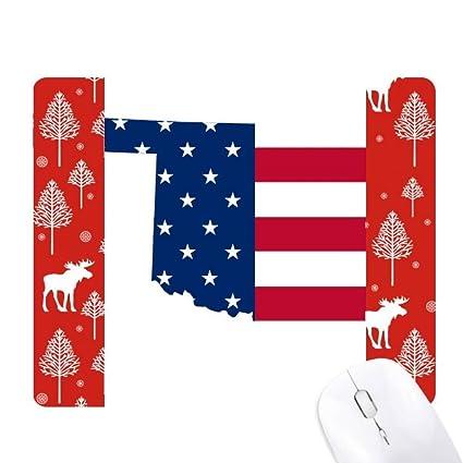 Amazon Com Oklahoma Usa Map Stars Stripes Flag Shape Christmas