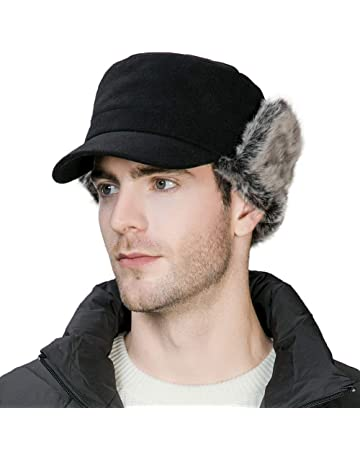 a3218c2595cf36 Trapper Hat Earflap Elmer Fudd Military Baseball Cap Winter Warm Unisex  56-61CM