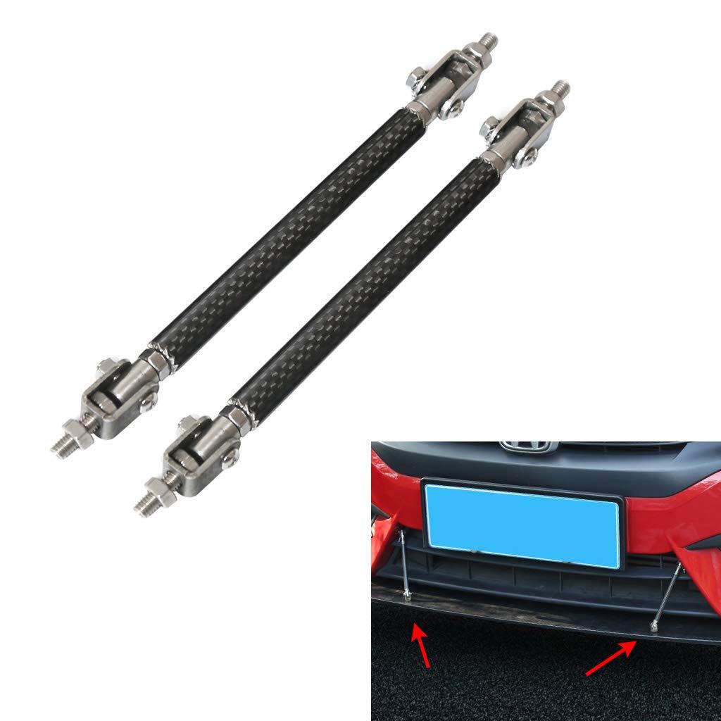 gazechimp 2pcs Aluminum Alloy Adjustable Car Front Bumper Lip Splitter Rod Tie Bars