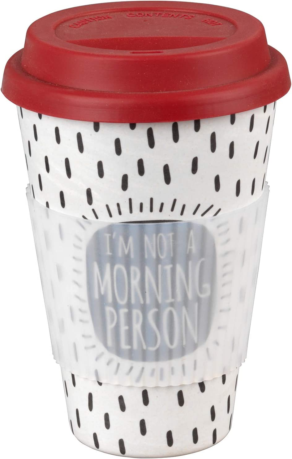Bamboo Morning Person Reusable Coffee Cup              Swaps to reduce waste