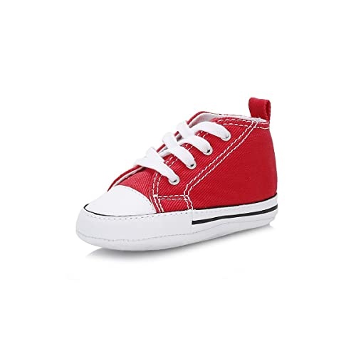 cdee871e50a1 Image Unavailable. Image not available for. Color  Converse First Star Hi  Red ...