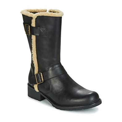 Clarks Orinoco Art Black Leather Noir - Chaussures Bottine Femme