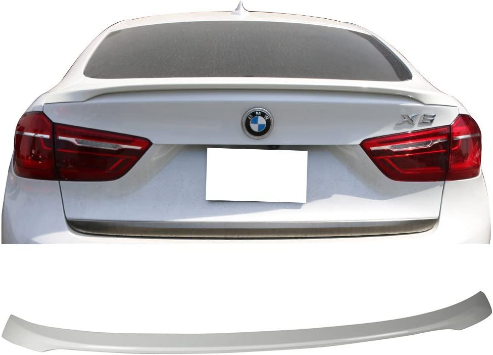 USA STOCK Fits 15-18 X6 F16 Trunk Spoiler Painted #300 Alpine White III
